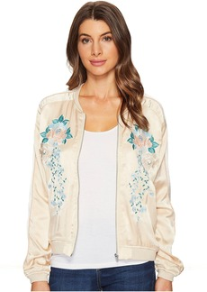 Blank NYC Embroidered Jacket in Pink Lady