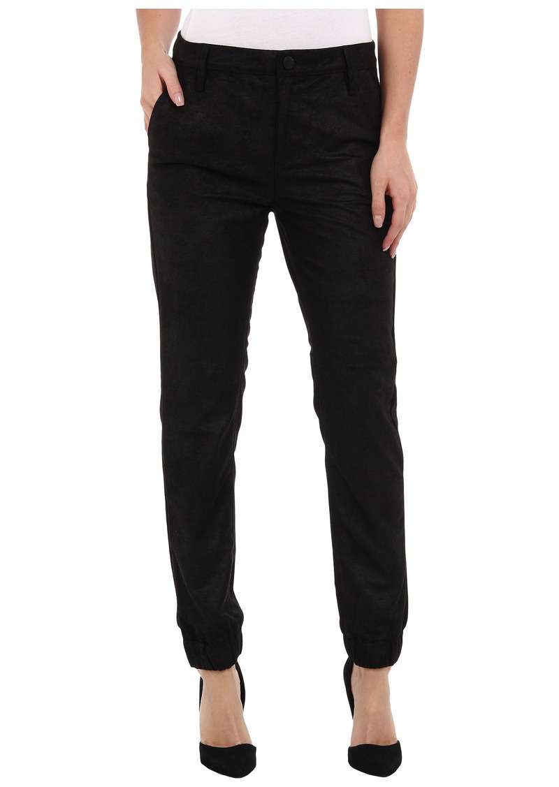 Blank NYC Faux Suede/Leather Trouser Pant in Track Boiz