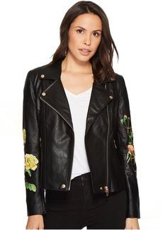 Blank Floral Moto Jacket in Bed of Roses