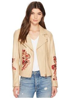 Blank Floral Moto Jacket in Wildflower