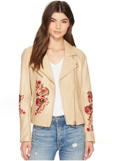 Blank Floral Moto Jacket in Wildflower