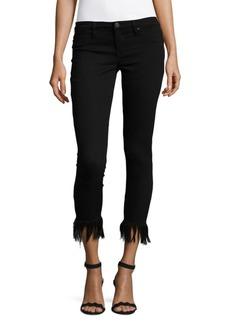 Blank Frayed Skinny Cropped Pants