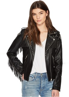 Fringe Moto Jacket in On The Run