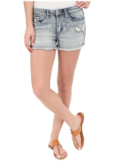 Blank High Rise Denim Distressed Shorts
