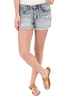 Blank NYC High Rise Denim Distressed Shorts