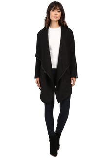 Blank NYC Long Black Jacket in Blackout