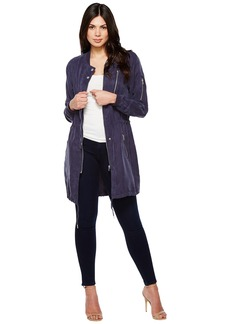 Blank NYC Long Bomber Jacket in In The Navy