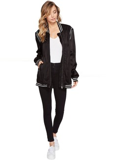Blank NYC Long Bomber with Black & White Rib Details in Power Play