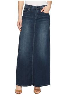 Blank Long Denim Skirt in Masterbathe