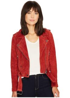 Blank Moto Jacket in Red My Mind
