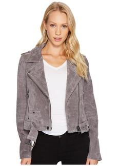 Blank Moto Jacket in Silver Screen
