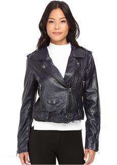 Blank NYC Moto Vegan Leather Jacket in Uninvited