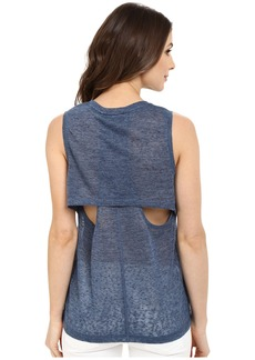 Blank NYC Muscle Tee with Overlapping Racerback Detail