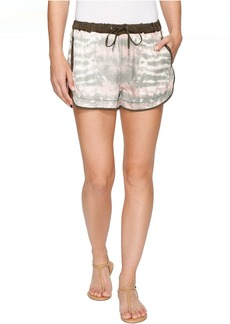 Blank NYC Novelty Detailed Drawstring Shorts in Green Beaner