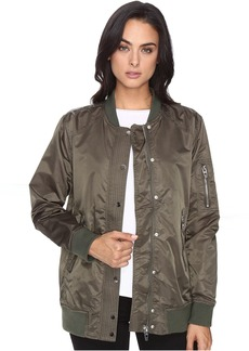 Olive Bomber Jacket in Flexible