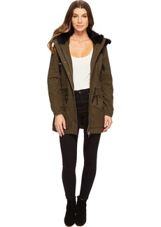 Blank NYC Parka Jacket with Faux Fur on Hood in Stoners Paradise
