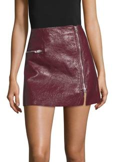 Blank Patent Zip Skirt