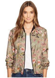 Blank NYC Printed Bomber in Sun Chaser