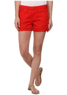 Blank NYC Red Shorts with Rip in Crimson Wave