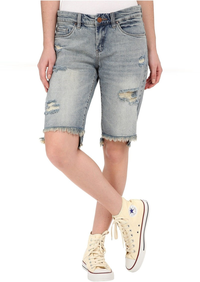 Blank Ripped Bermuda Shorts in Hate Watching