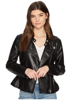 Blank Ruffle Vegan Leather Jacket in Ruffle My Feather
