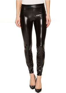 Blank NYC Shiny Vegan Leather High-Rise Pull-On Leggings in Smoke and Mirrors