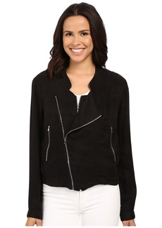 Blank NYC Silk Zipper Detail Jacket