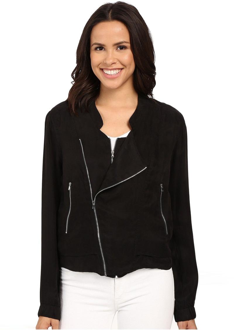 Blank NYC Silk Zipper Detail Jacket