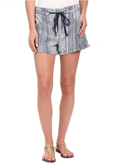 Blank NYC Striped Drawstring Shorts in Out of Spite