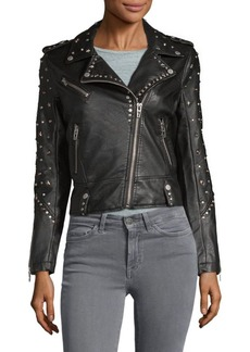Blank Studded Faux-Leather Jacket