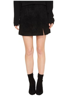 Blank Suede Mini Skirt in Black/Seal The Deal