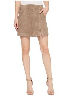 Blank Suede Skirt in Sand Stoner