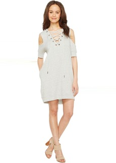 Blank NYC Sweatshirt Dress with Lace Detailing in Negative Space