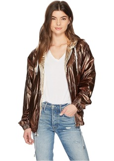 Blank Two-Tone Hooded Jacket in Good Vibrations