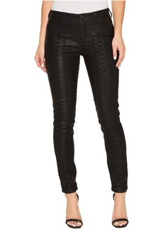 Blank NYC Vegan Leather Lace-Up Pants in Wake Up Call