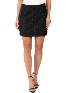 Blank NYC Vegan Leather Lace-Up Skirt in Boys Soul