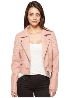 Blank NYC Vegan Leather Moto Jacket in Pretty In Pink