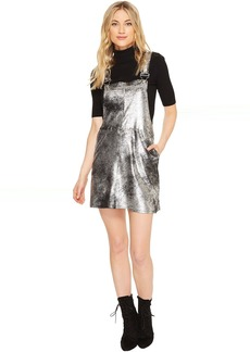 Blank NYC Vegan Leather Overall Dress in Now or Never