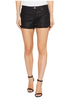Blank NYC Vegan Leather Shorts in Lace Of The Ex
