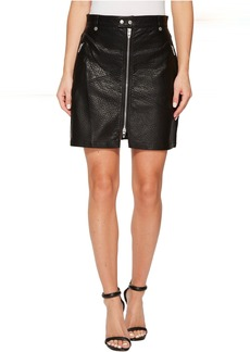 Blank Vegan Leather Zipper Detail Skirt in Sweet Talker