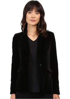 Blank NYC Velvet Black Blazer in The New Black