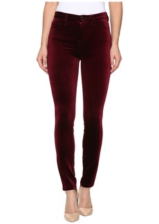 Blank NYC Velvet Burgundy High-Rise Skinny in Burgundy Lush