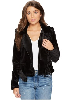 Blank NYC Velvet Moto Jacket in Dark Side