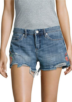 BLANK NYC Wild Child Embroidered Cut-Off Shorts