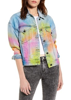 BLANKNYC Airbrushed Denim Trucker Jacket