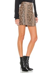 BLANKNYC Anaconduh Vegan Leather Mini Skirt