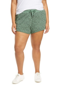 BLANKNYC Animal Print Sweat Shorts (Plus Size)
