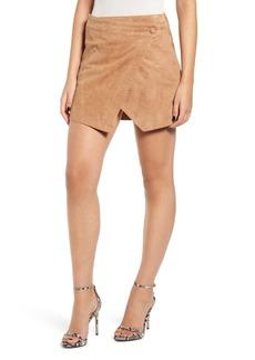 BLANKNYC Asymmetrical Suede Miniskirt