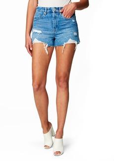 BLANKNYC Barrow High Waist Cutoff Denim Shorts (Fare Warning)