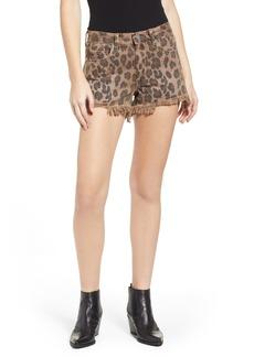 BLANKNYC Barrow High Waist Leopard Print Denim Shorts (Catwalk)